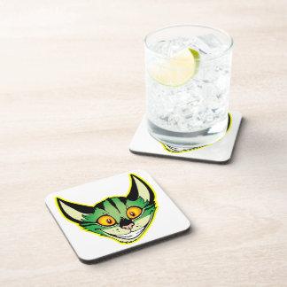 Fluorescent Cartoon Cat Coasters Set