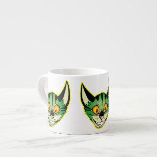 Fluorescent Cartoon Cat Espresso Mug