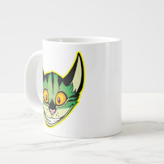 Fluorescent Cartoon Cat Jumbo Mug