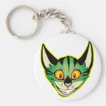 Fluorescent Cartoon Cat Keychain