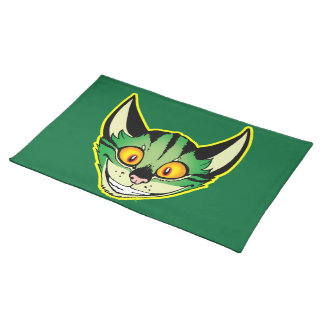 Fluorescent Cartoon Cat Placemat Cloth Placemat