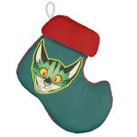 Fluorescent Cartoon Cat Stocking Elf Christmas Stocking