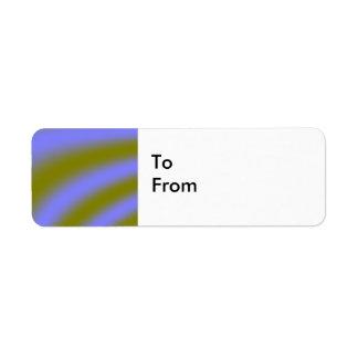 Fluorescent Clouds Custom Gift Tags Return Address Label