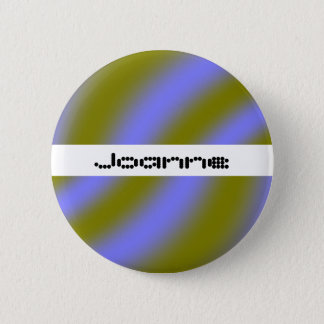 Fluorescent Clouds Custom Name Button