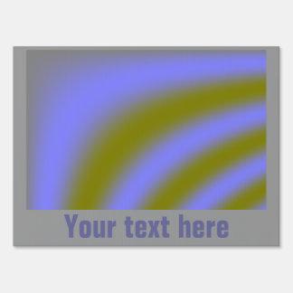 Fluorescent Clouds Custom Yard Sign