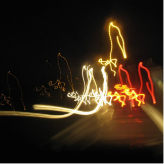 fluorescent figures photo cutouts