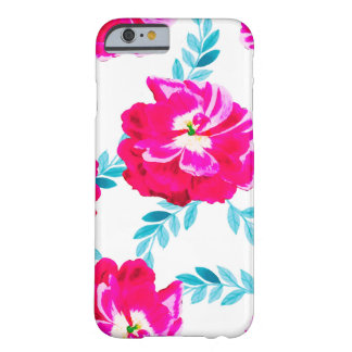 Fluorescent Florals Barely There iPhone 6 Case