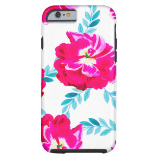 Fluorescent Florals Tough iPhone 6 Case