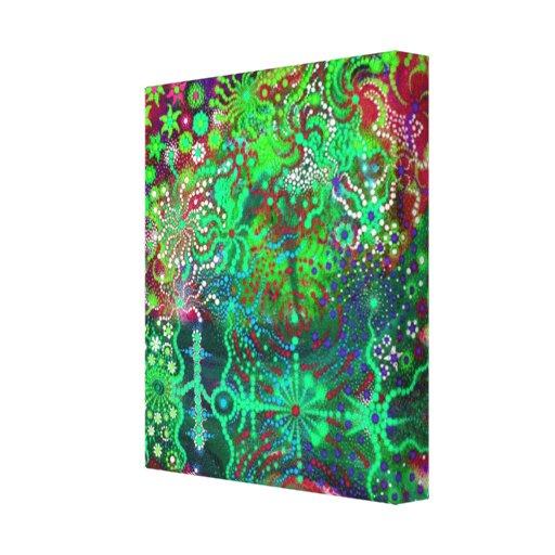 Fluorescent Flowers Canvas Print