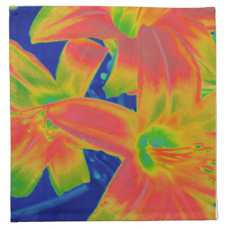 fluorescent flowers cloth napkin