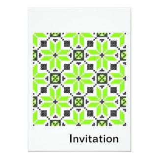 Fluorescent Fresh Green Lemon  Invitation