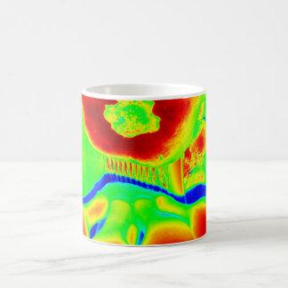 fluorescent fruit coffee mug