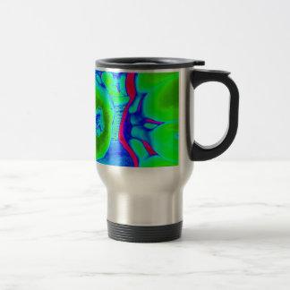 fluorescent fruit green travel mug
