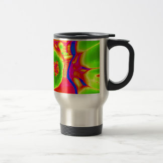 fluorescent fruit travel mug