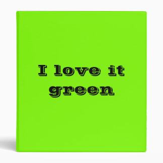 fluorescent green 3 ring binder