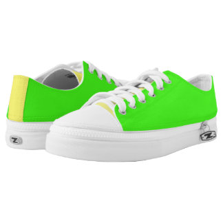 Fluorescent Green And Yellow Low-Top Sneakers