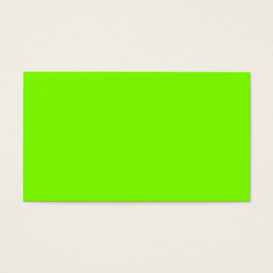 fluorescent green -blank business card