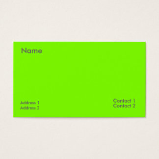 fluorescent green business card