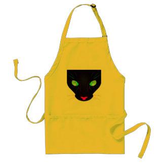 Fluorescent Green Cat Eyes Portrait Adult Apron