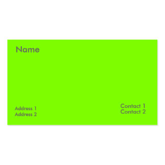fluorescent green Double-Sided standard business cards (Pack of 100)
