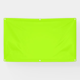 Fluorescent Green Solid Color Banner