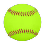 Fluorescent Green Solid Color Baseball