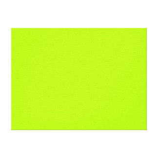Fluorescent Green Solid Color Stretched Canvas Prints