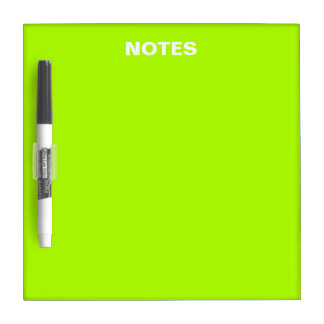 Fluorescent Green Solid Color Dry Erase Whiteboards