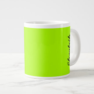 Fluorescent Green Solid Color Giant Coffee Mug