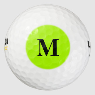 Fluorescent Green Solid Color Golf Balls