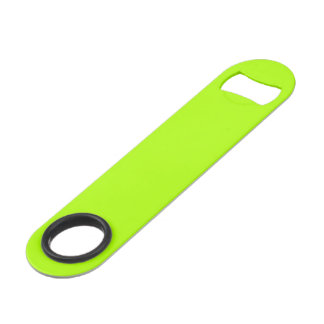 Fluorescent Green Solid Color Speed Bottle Opener
