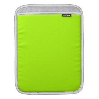 Fluorescent Green Solid Color iPad Sleeve