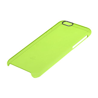 Fluorescent Green Solid Color Uncommon Clearly™ Deflector iPhone 6 Case