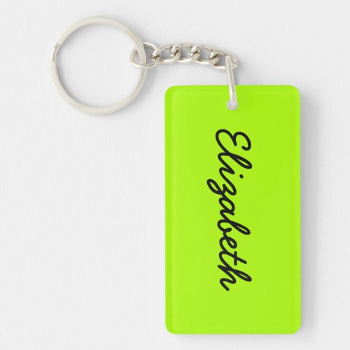 Fluorescent Green Solid Color Keychain