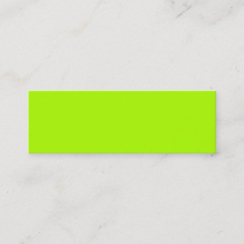 Fluorescent Green Solid Color Mini Business Card