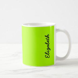 Fluorescent Green Solid Color Classic White Coffee Mug