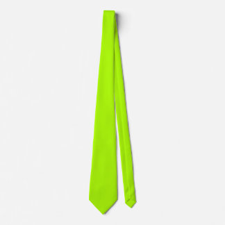 Fluorescent Green Solid Color Neck Tie