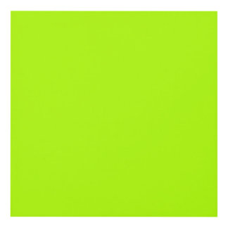 Fluorescent Green Solid Color Panel Wall Art