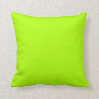 Fluorescent Green Solid Color Throw Pillows