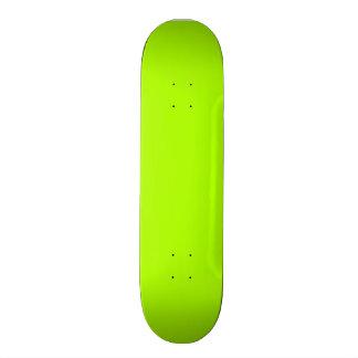 Fluorescent Green Solid Color Skateboard