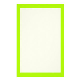 Fluorescent Green Solid Color Stationery