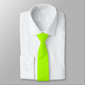 Fluorescent Green Solid Color Tie