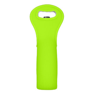 Fluorescent Green Solid Color Wine Bags