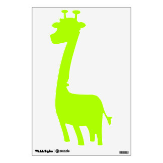 Fluorescent Green Solid Color Wall Decal