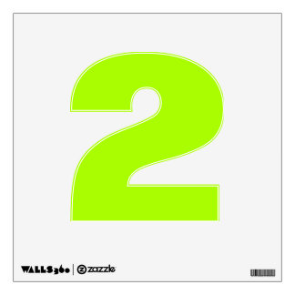 Fluorescent Green Solid Color Wall Skins