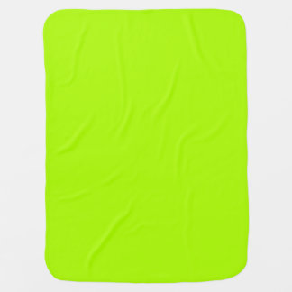 Fluorescent Green Solid Color Stroller Blankets