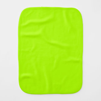 Fluorescent Green Solid Color Baby Burp Cloth