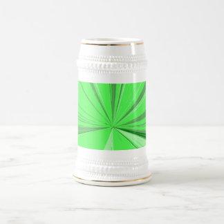 Fluorescent Green Vanishing Point Beer Stein