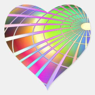 fluorescent image heart sticker