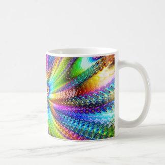 fluorescent image in star coffee mug